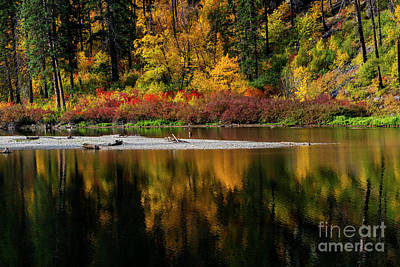Photograph - Tumwater Autumn by Mike Dawson
