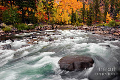 Photograph - Tumwater Canyon Autumn by Mike Dawson