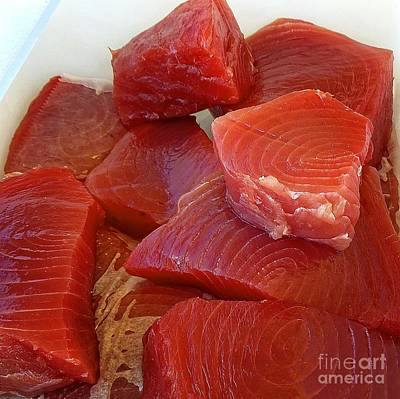 Photograph - Tuna Chunks by Dee Flouton