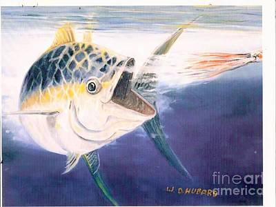 Painting - Tuna To The Lure by Bill Hubbard