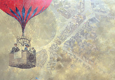 Hot Air Balloon Painting - Tunbridge Wells by Peter Miller