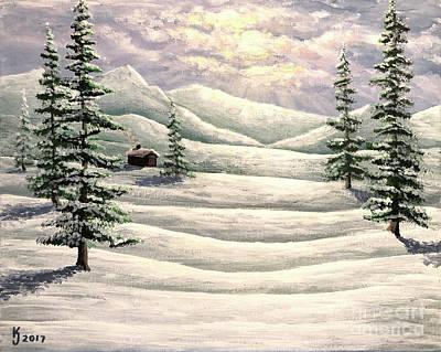 Painting - Tundra Dawn by KJ Burk