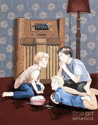 Nostalgic Painting - Tune In Next Week by Jennifer  Donald