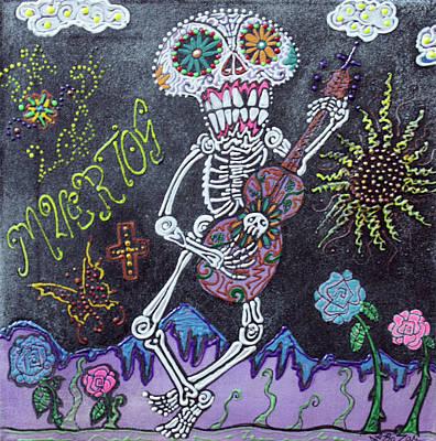 Tune Of Los Muertos Art Print by Laura Barbosa