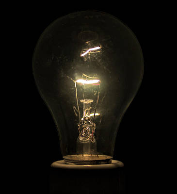 Photograph - Tungsten Light Bulb by Daniel Hagerman