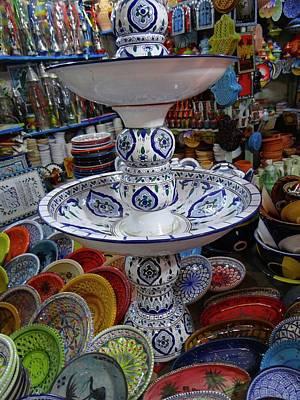 Exploramum Photograph - Tunisia Pottery Store by Exploramum Exploramum