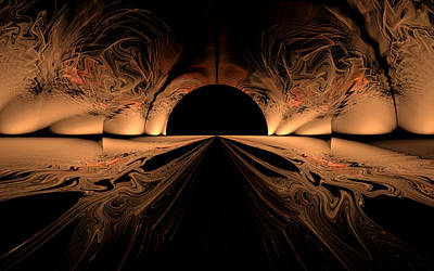 Digital Art - Tunnel by GJ Blackman