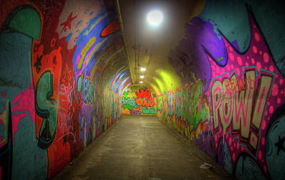 Photograph - Tunnel Graffiti by Mark Andrew Thomas