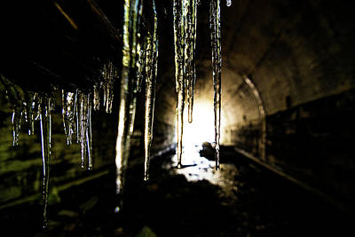 Tunnel Icicles Art Print