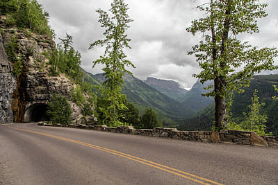 Truck Art - Tunnel in Glacier National park by John McGraw