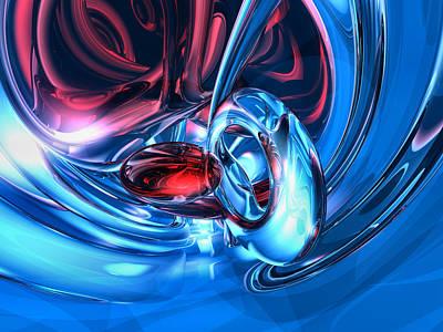 Lust Digital Art - Tunnel Lust Abstract by Alexander Butler
