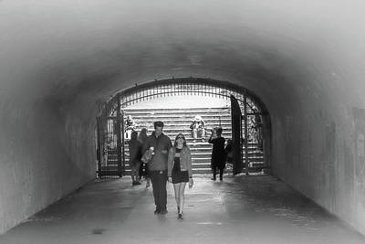 Photograph - Tunnel Music Bw by Bonnie Follett