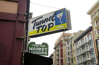 Streetshot Photograph - Tunnel Top Bar, San Francisco, Ca by Erik Burg