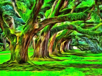 Bark Painting - Tunnel Tree by Leonardo Digenio