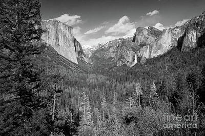 Photograph - Tunnel View Bw by Cheryl Del Toro