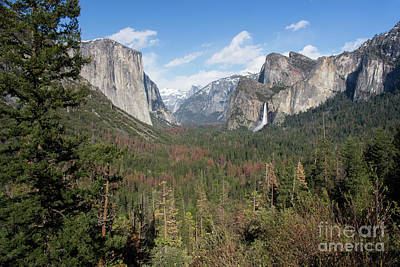 Photograph - Tunnel View Color by Cheryl Del Toro