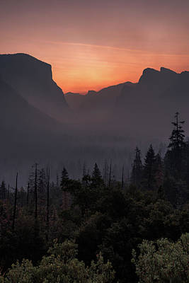 Photograph - Tunnel View Dawn by Davorin Mance