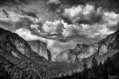 Photograph - Tunnel View In Black And White by Rick Berk