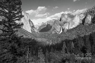 Photograph - Tunnel View Shadow Bw by Cheryl Del Toro