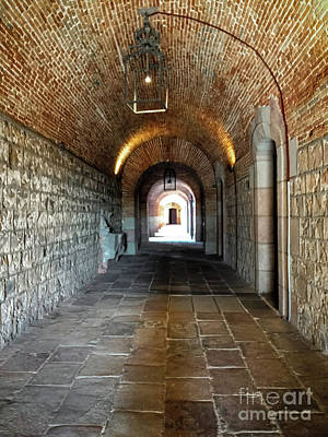 Photograph - Tunnel Vision  -  Montjuic Castle Barcelona by Colleen Kammerer
