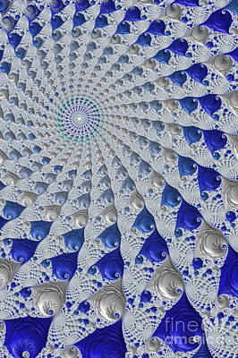 Digital Art - Tunnel Vision Blue by Steve Purnell