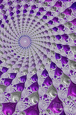 Digital Art - Tunnel Vision Purple by Steve Purnell