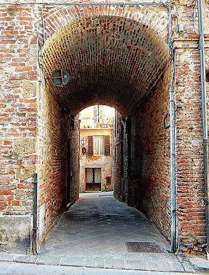 Photograph - Tunnelled Through Citta Della Pieve Umbria by Dorothy Berry-Lound