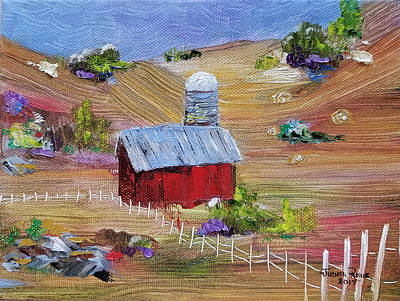 Painting - Tunkhannock Farm by Judith Rhue