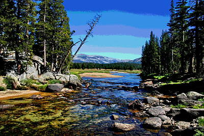 Yosemite National Park Mixed Media - Tuolumne River by Les Mayers