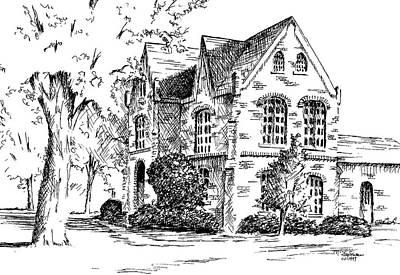 Tuomey Hall, University Of Alabama Art Print