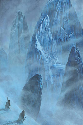 Tuor And Voronwe Approach Gondolin Original by Kip Rasmussen