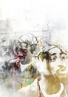 America Painting - Tupac 127 by Jani Heinonen