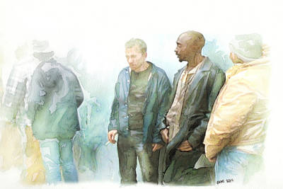 Celebrity Painting - Tupac 17 by Jani Heinonen