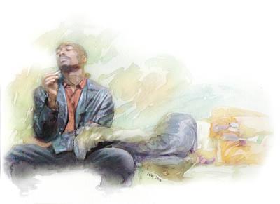 America Painting - Tupac 23 by Jani Heinonen