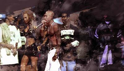 Singer Painting - Tupac 4140000 by Jani Heinonen