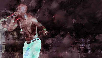 Jay Z Drawing - Tupac 4142000063 by Jani Heinonen