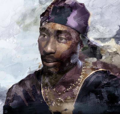 Jay Z Painting - Tupac 74333359 by Jani Heinonen