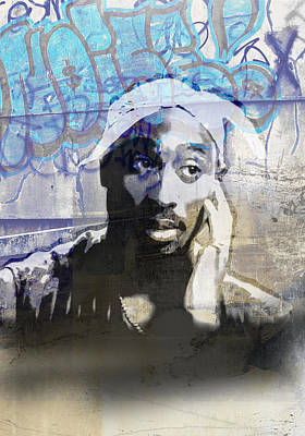 Jay Z Digital Art - Tupac Graffitti 21 by Jani Heinonen