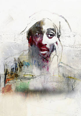 Black Gospel Painting - Tupac Graffitti 2656 by Jani Heinonen