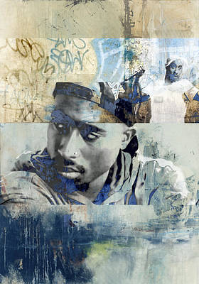 San Diego Artist Mixed Media - Tupac Graffitti 6489 by Jani Heinonen
