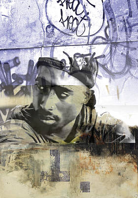 San Diego Artist Mixed Media - Tupac Graffitti 67 by Jani Heinonen