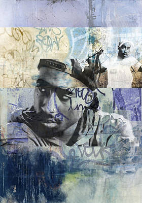 San Diego Artist Mixed Media - Tupac Graffitti 69 by Jani Heinonen