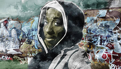 Tupac Graffitti 7 Art Print by Jani Heinonen