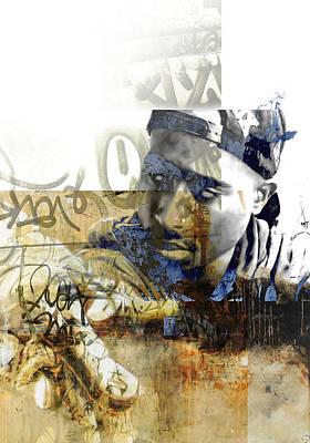 Dallas Drawing - Tupac Graffitti 7578 by Jani Heinonen