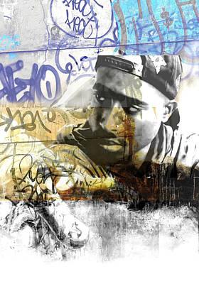 Beverly Hills Drawing - Tupac Graffitti 78 by Jani Heinonen