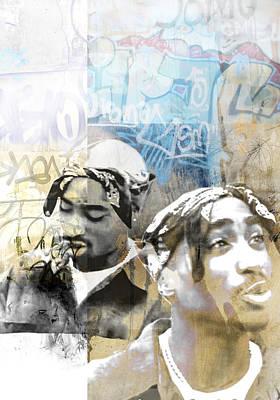 Tupac Graffitti 80 Art Print