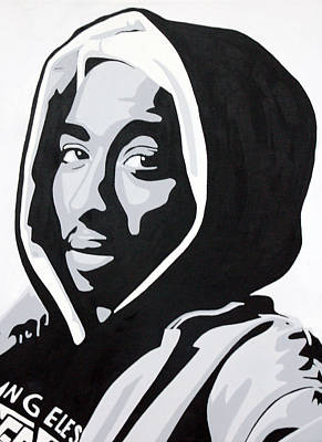 Painting - Tupac by Michael Ringwalt