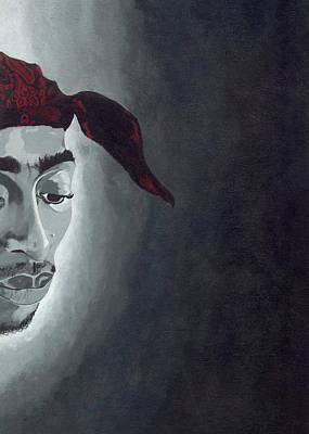 Painting - Tupac by Rishanna Finney