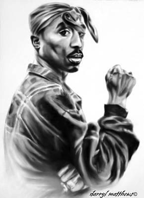 Painting - Tupac Shakur by Darryl Matthews