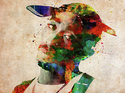 Digital Art - Tupac Shakur by Mihaela Pater